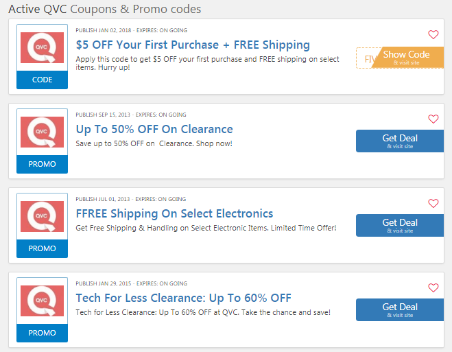 All QVC Voucher & Promo Codes for October 12222
