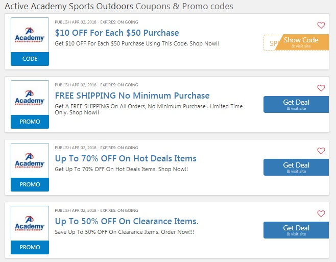 Academy Sports Outdoors coupons