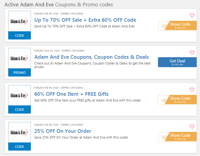 Adam And Eve coupons codes