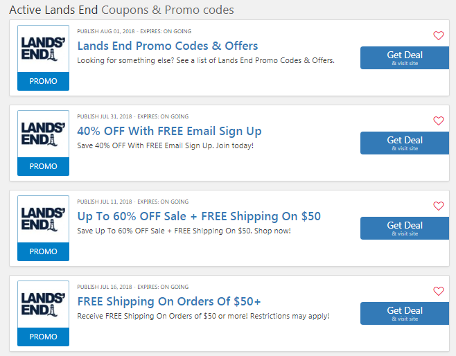 Lands End Coupon Code $15 OFF Free Shipping No Minimum 2019