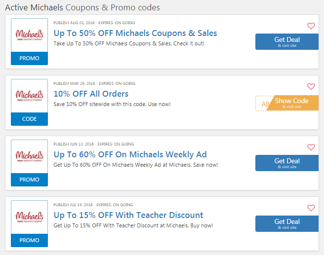 Michaels 20% OFF Entire Purchase Coupon: 20 OFF Code
