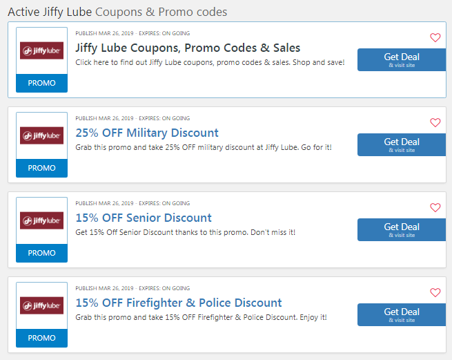 Jiffy Lube Coupon $20 OFF: 20 Dollar Oil Change Code 2019