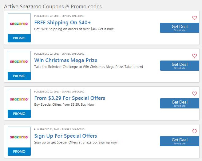 Snazaroo coupons