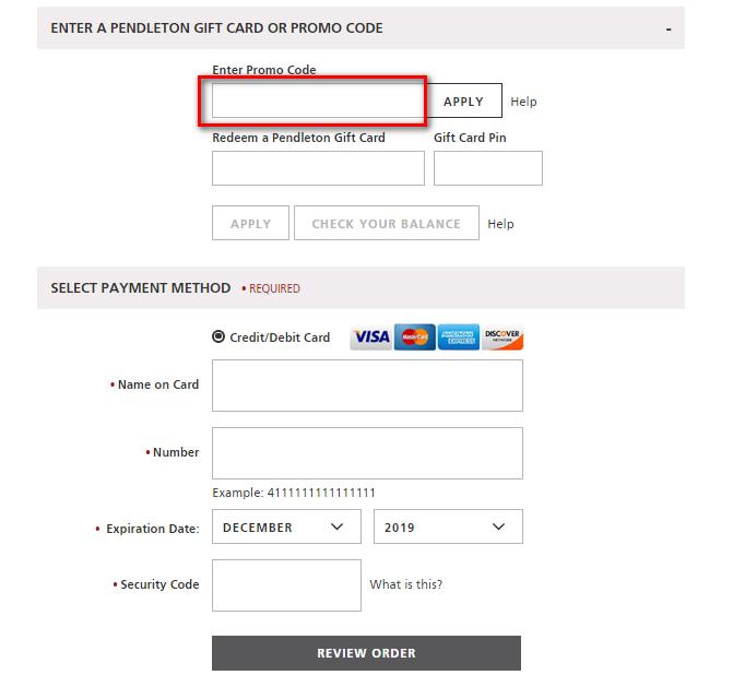 Pendleton coupon code