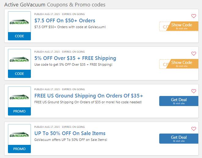 GoVacuum coupons