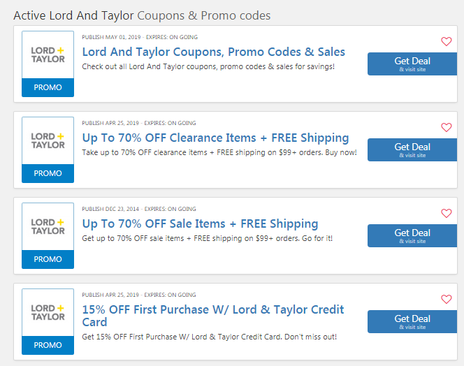 image about Lord and Taylor Printable Coupon titled Lord And Taylor $15 Printable Coupon: $15 OFF $40 Code