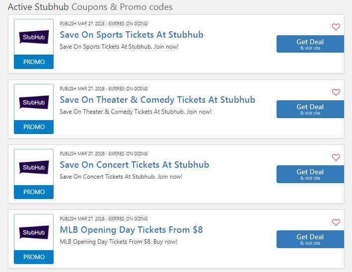 Stubhub 10 OFF Mlb Tickets: $10 Discount Code 2019