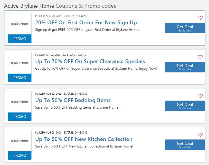 Brylane Home 50% OFF Coupons: Promo Code 09 2019