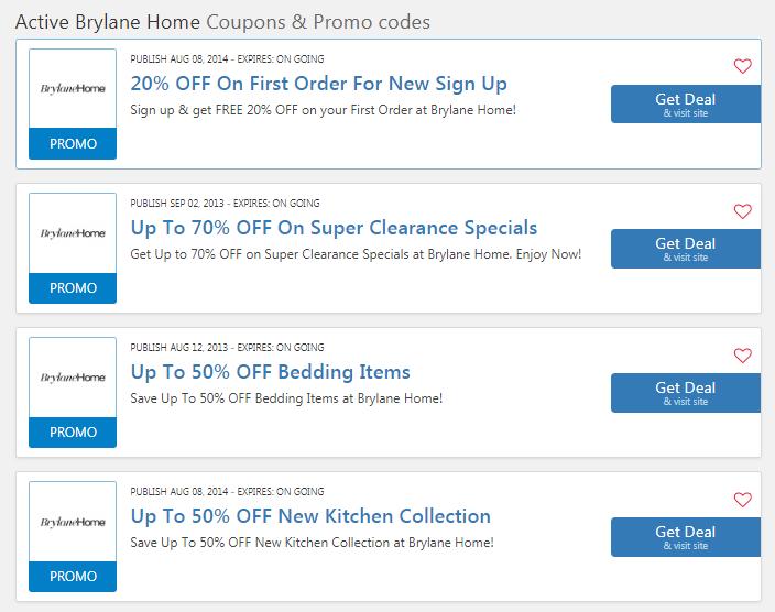 brylane homes coupons free shipping