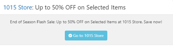 1015 Store coupon code