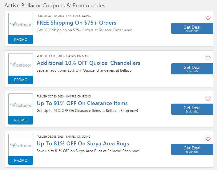 bellacor email coupon
